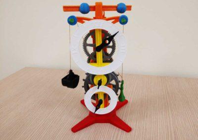 Reloj fabricado con piezas impresas en impresora 3D