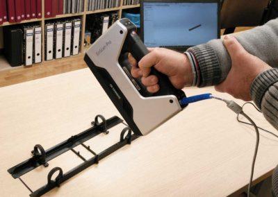 Escáner 3D en uso